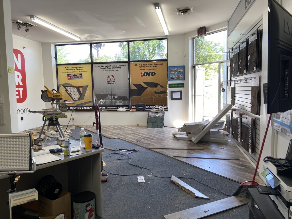 Office Remodel – Installing New Flooring