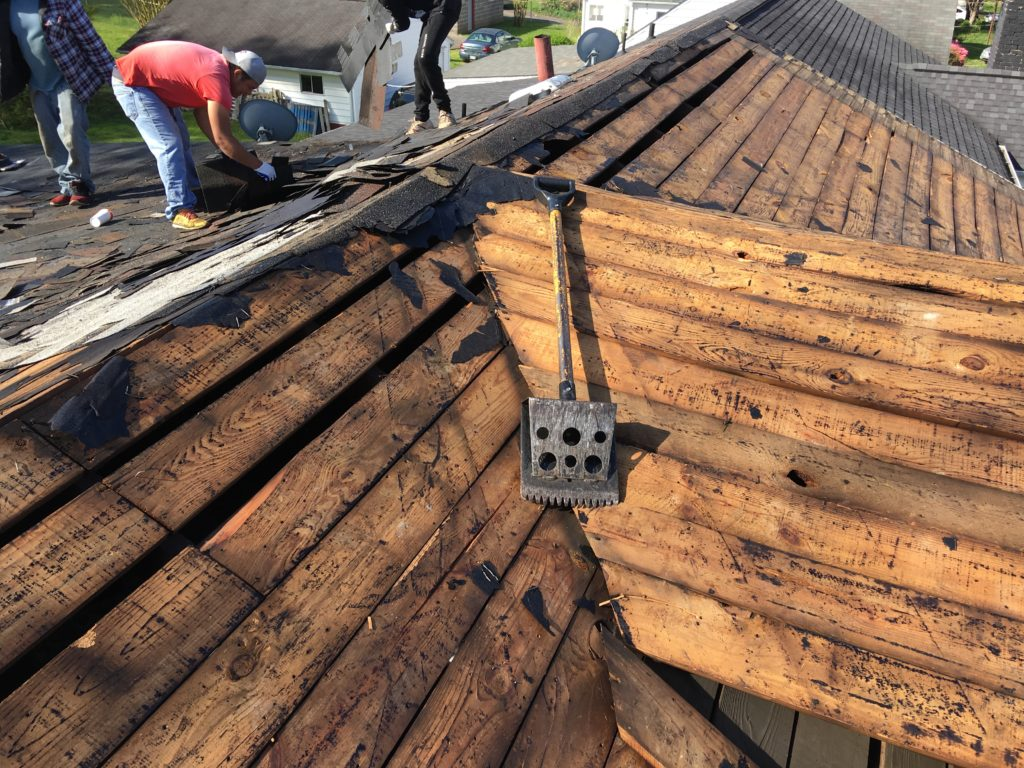Bad boards replaced on this roof