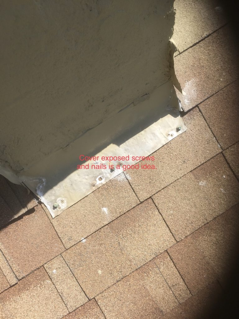 Chimney Counter flashing and step flashing a mess… but
