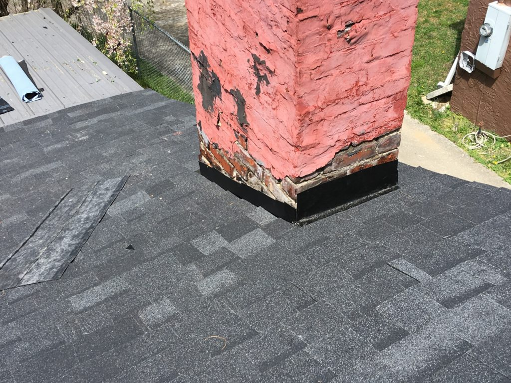 Boards are bad all around chimney and roof
