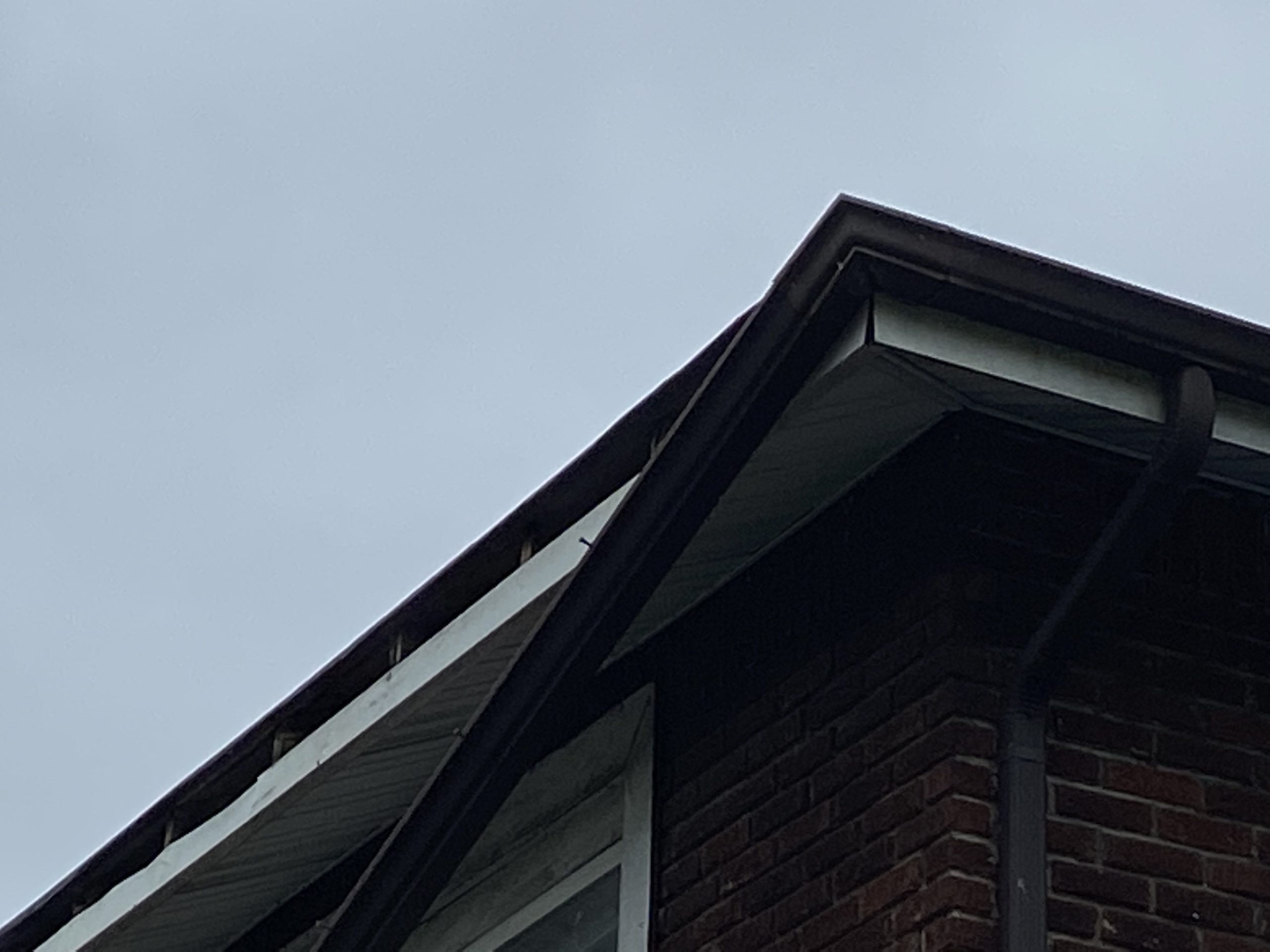 This is a piece of drip edge that is falling off the roof.