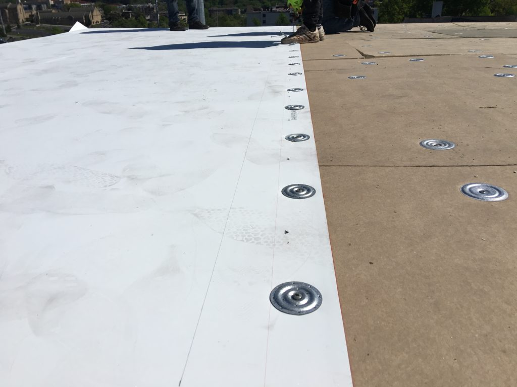 Mechanical fastened 60 ml TPO roof