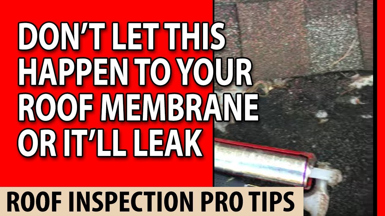 don't let this happen to your roof membrane or it'll leak