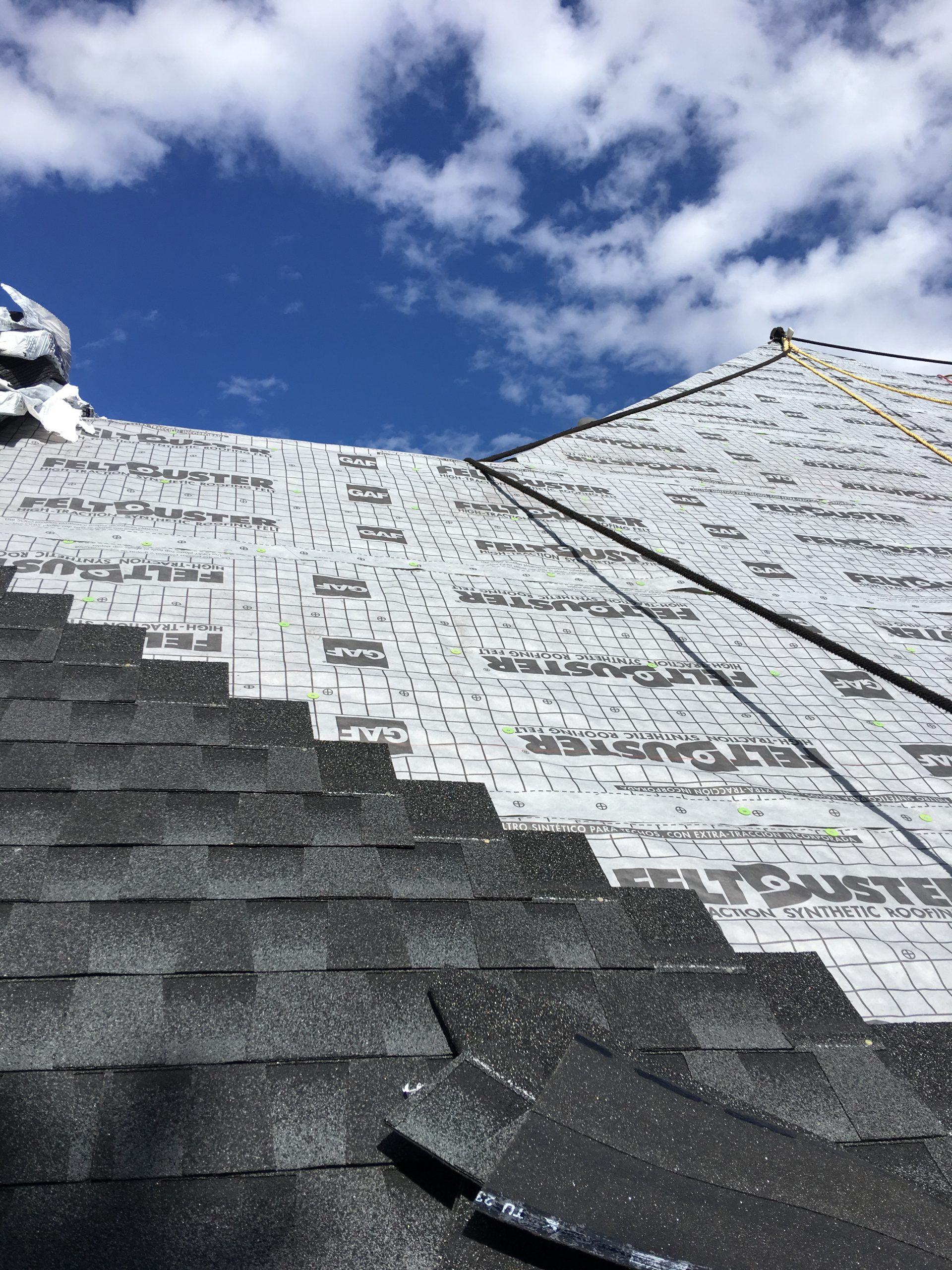 This is a view of the roof with GAF Reltbuster installed.