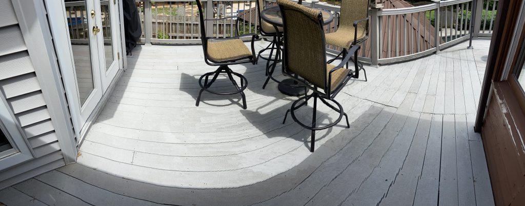 Patio deck needing roof