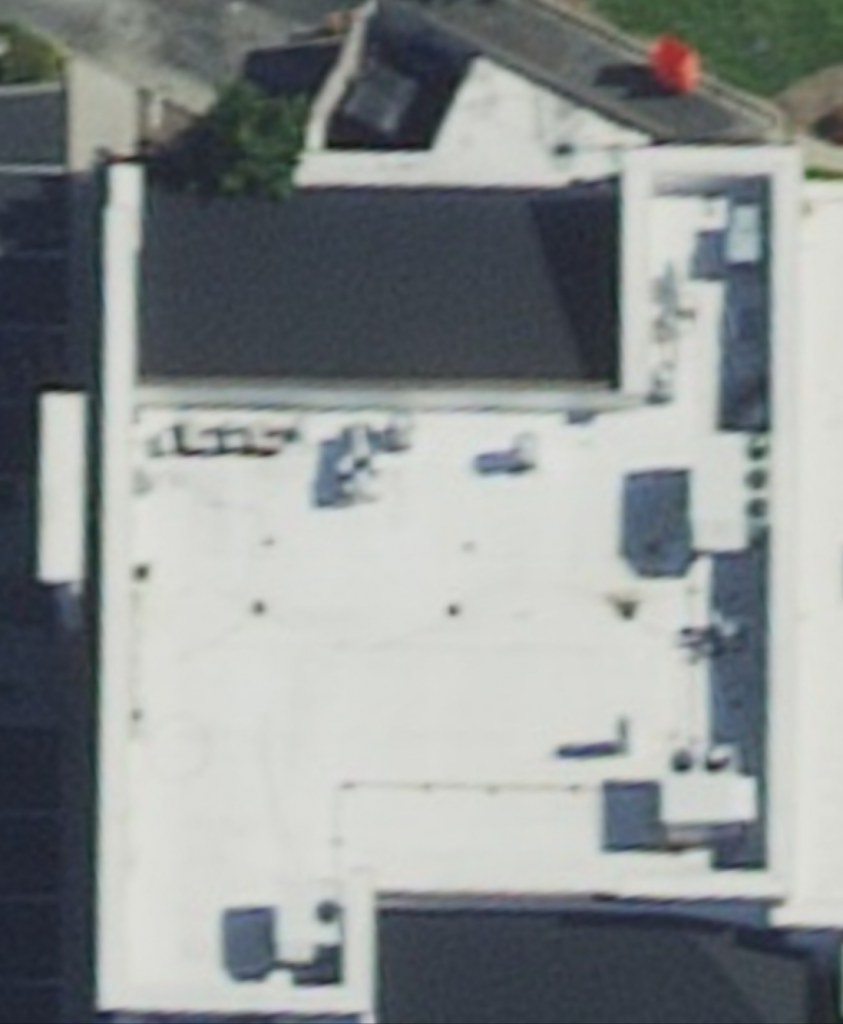Aerial of TPO Roof