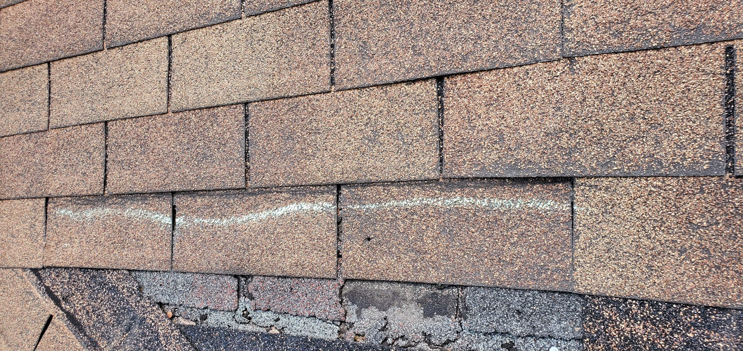 this is a picture of several shingles that are blow off of a roof