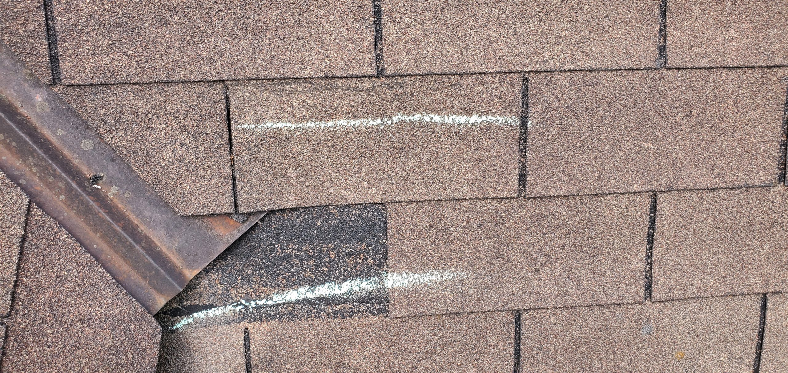 this is a picture of a missing shingle in Knoxville TN