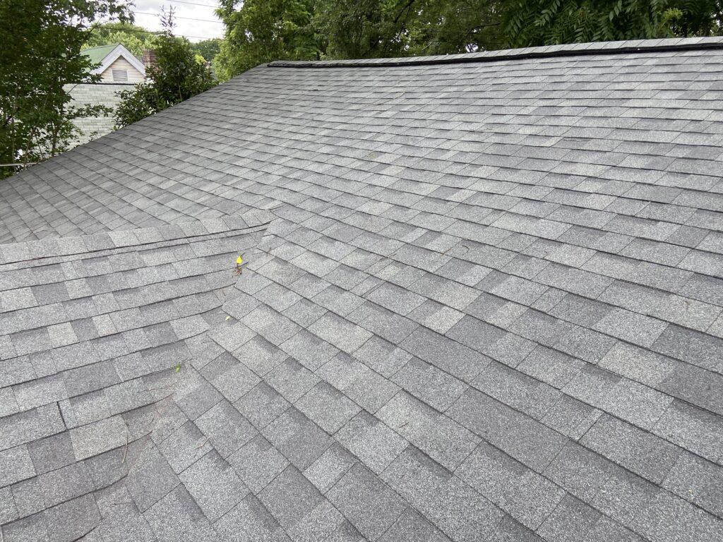 this is a picture of gray colored shingles on the front of a house