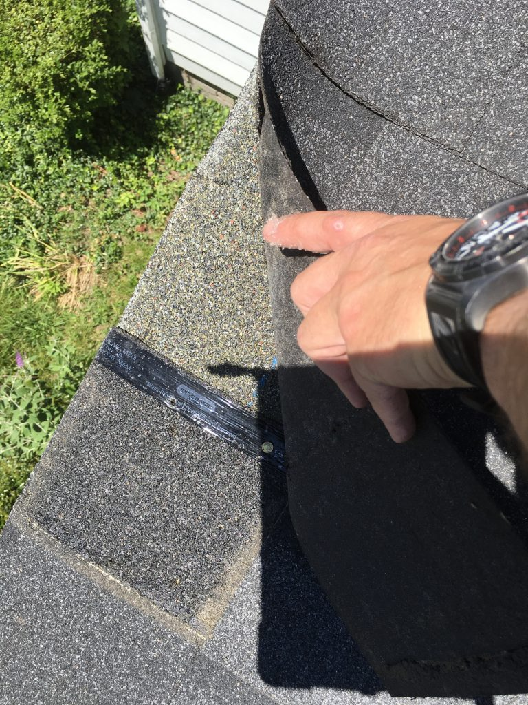 Shingle Damages to Edge of Roof