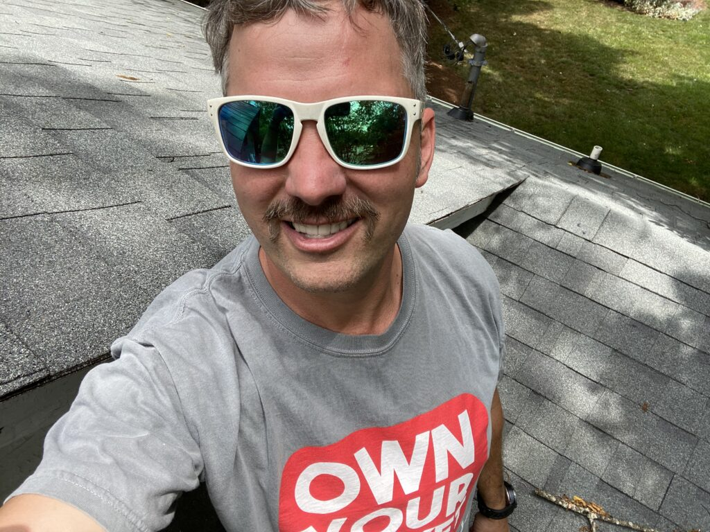 this is kirby smith the owner of litespeed construction performing a final roof inspection on roof project we just completed
