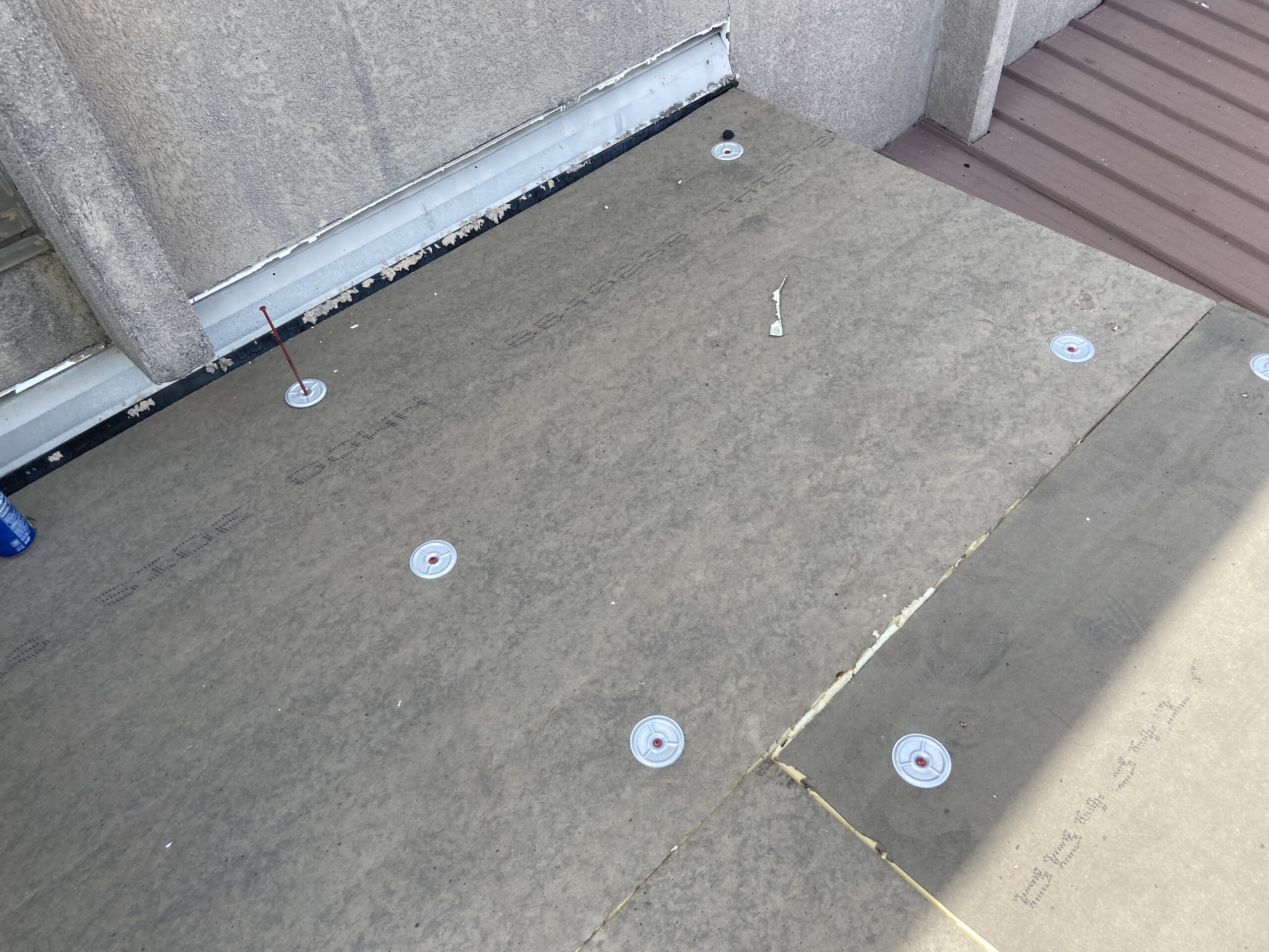 Iso board screw to roof
