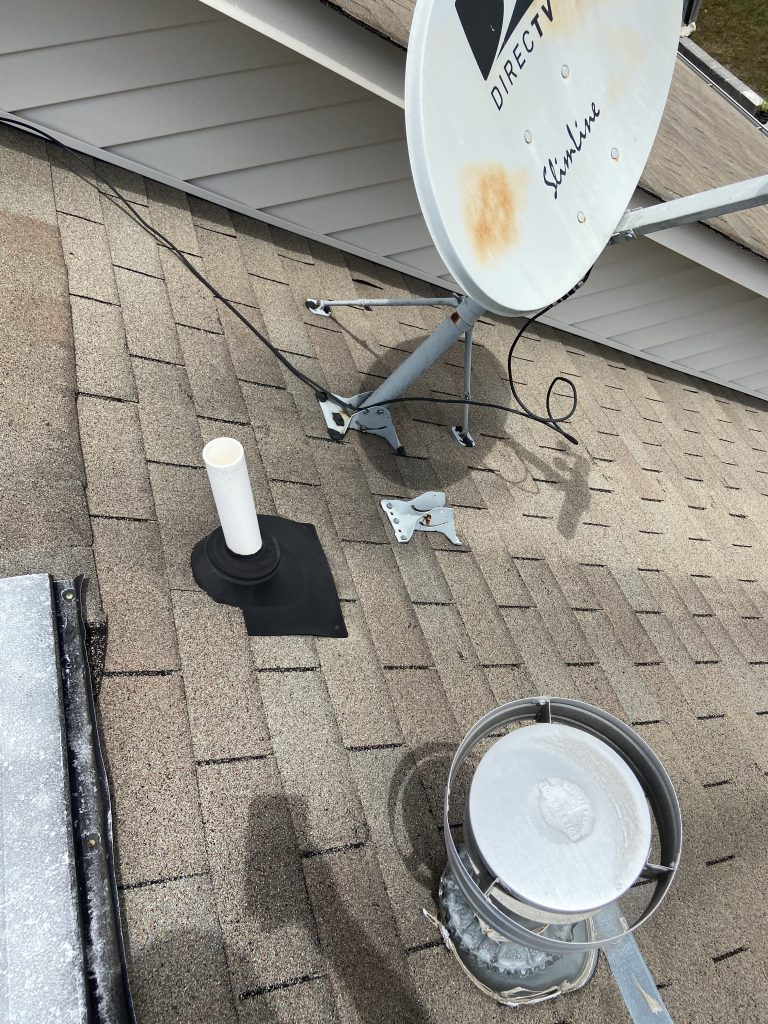 Pipe Boots and Satelite Dish on Roof