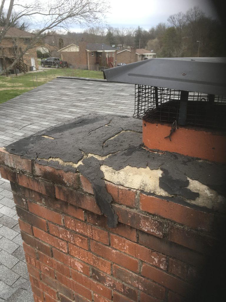 this chimney cap is definitely causing these roof leaks in knoxville tn