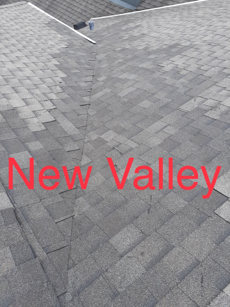 Completed Roof Valley and Flashing