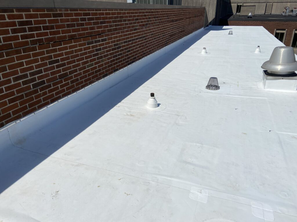 This is a picture of a membrane roof and this is what we are proposing