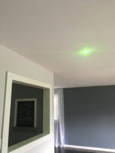 this is a second location that we are installing velux sun tunnels inside of a dark room