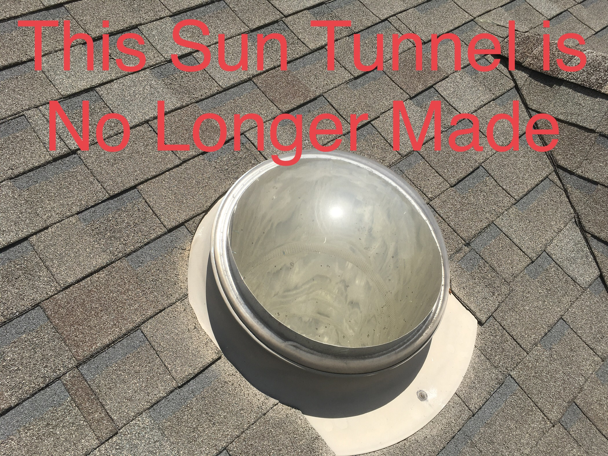 this is a picture of a sun tunnel in an old roof, the sun tunnel is no longer made