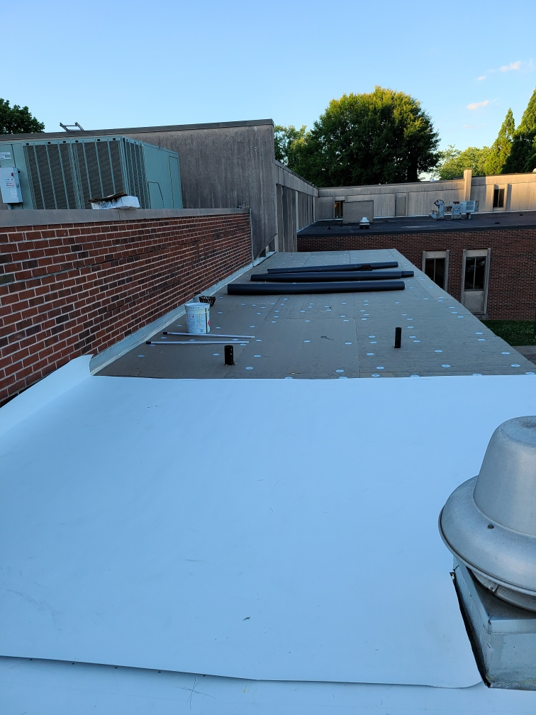 60 ml TPO on a Commercial Roof Job