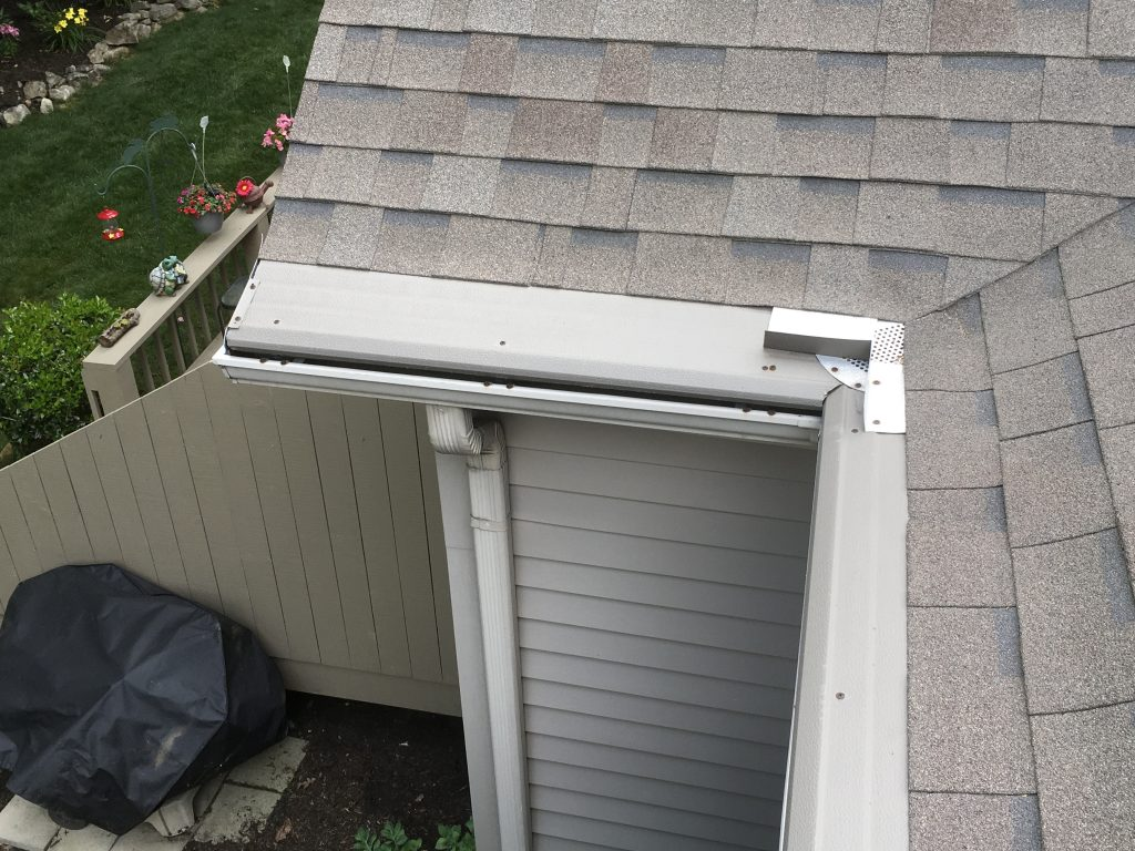 this is a picture of gutter helmet gutter guards