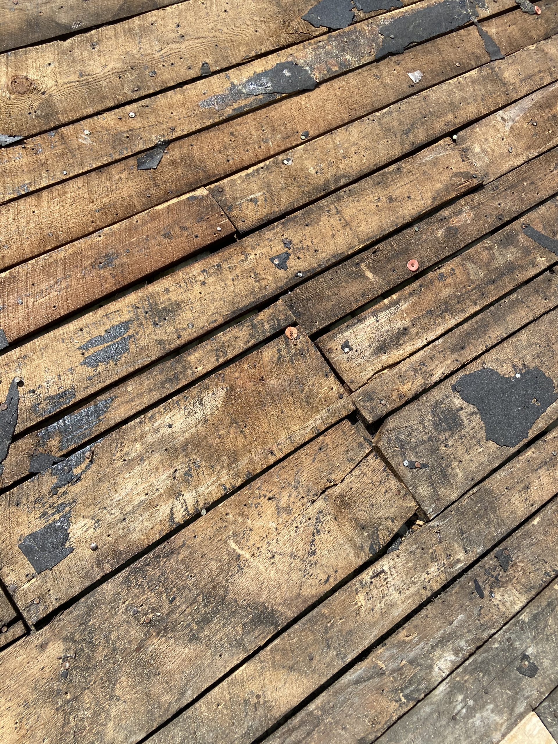 there are big gaps and some of the old roof deck boards are beginning to separate in knoxville tn