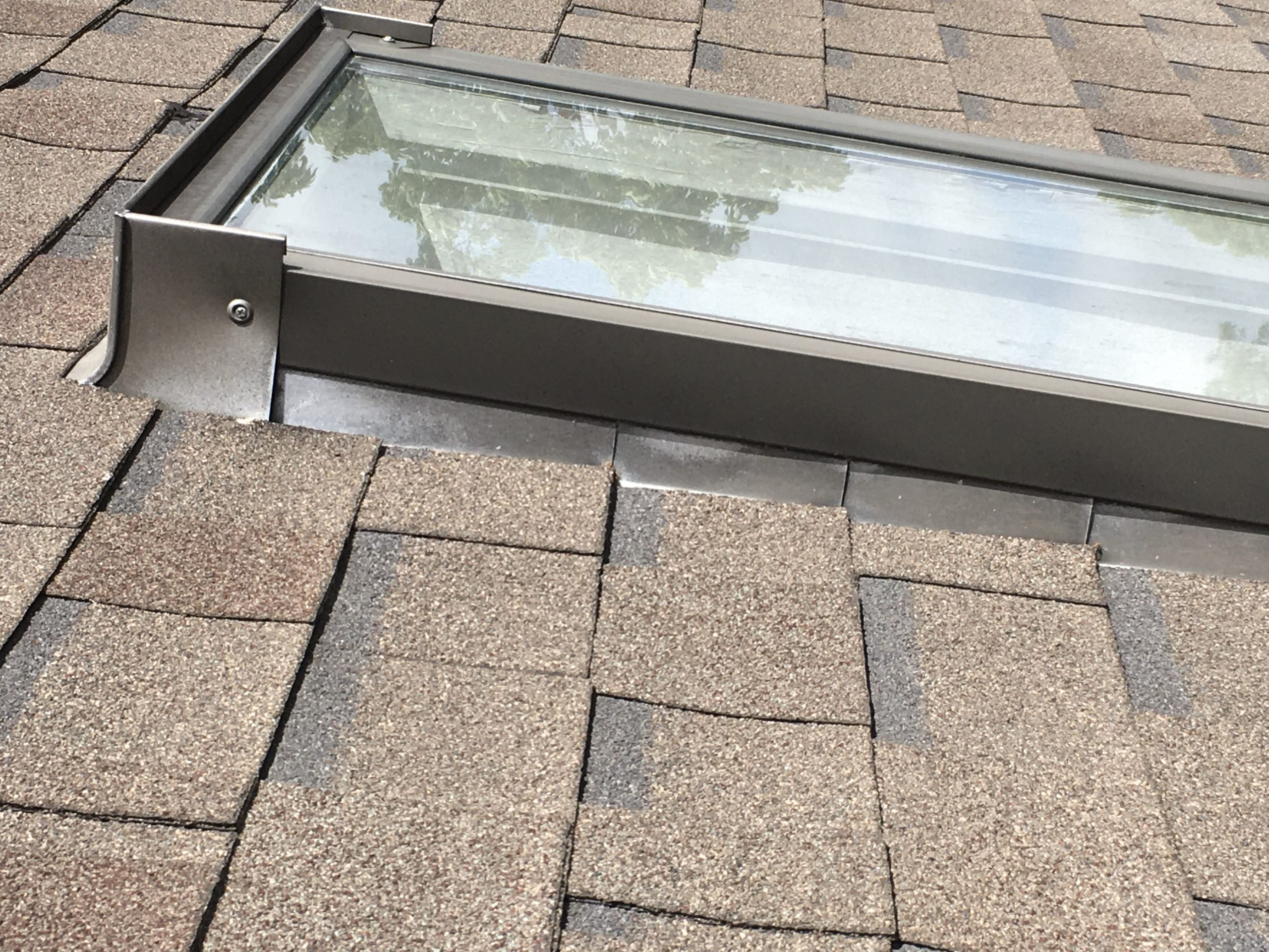 this is a picture of the old velux skylights on this roof