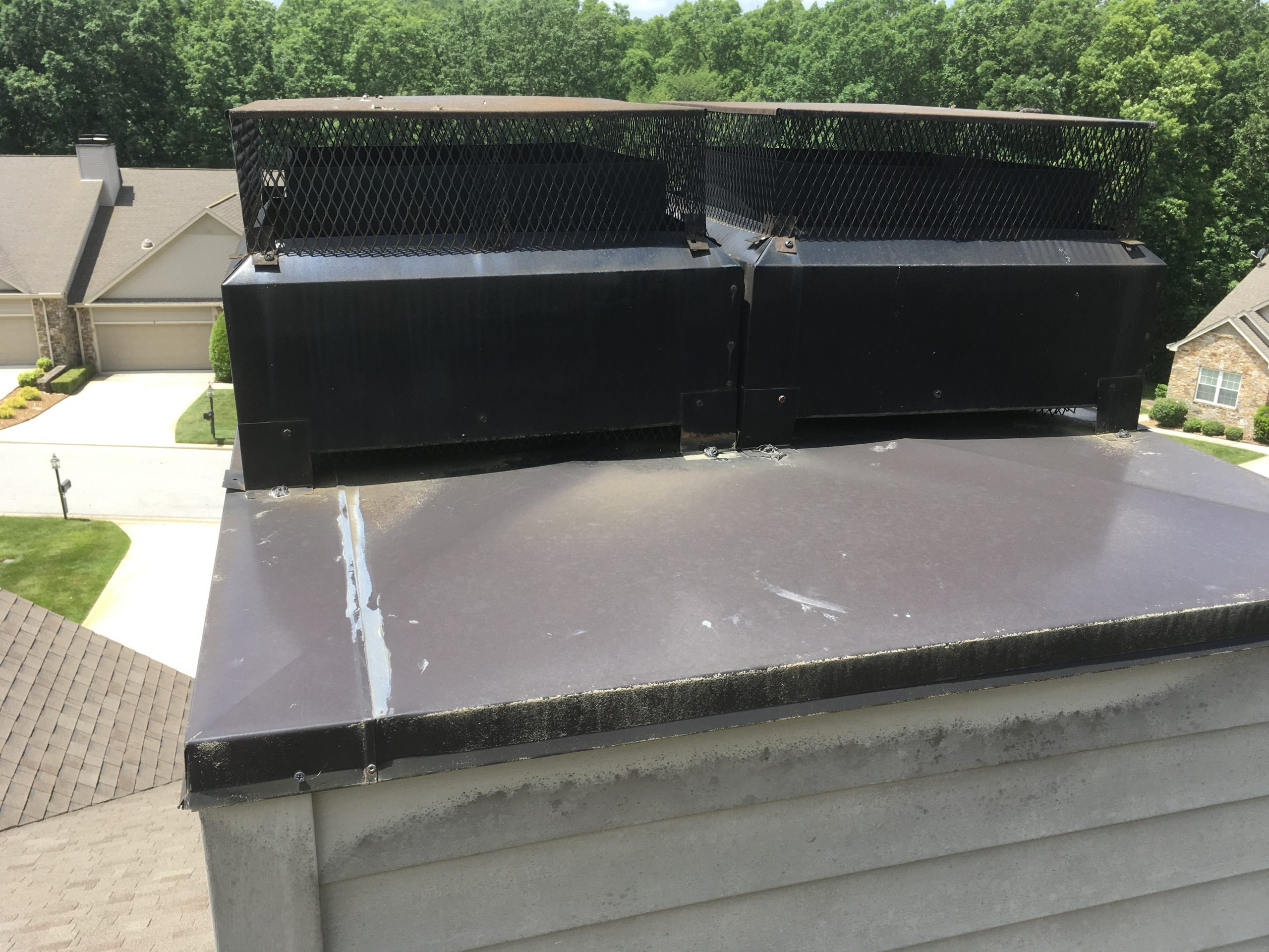 this is a picture of a chimney cap that could possibly leak