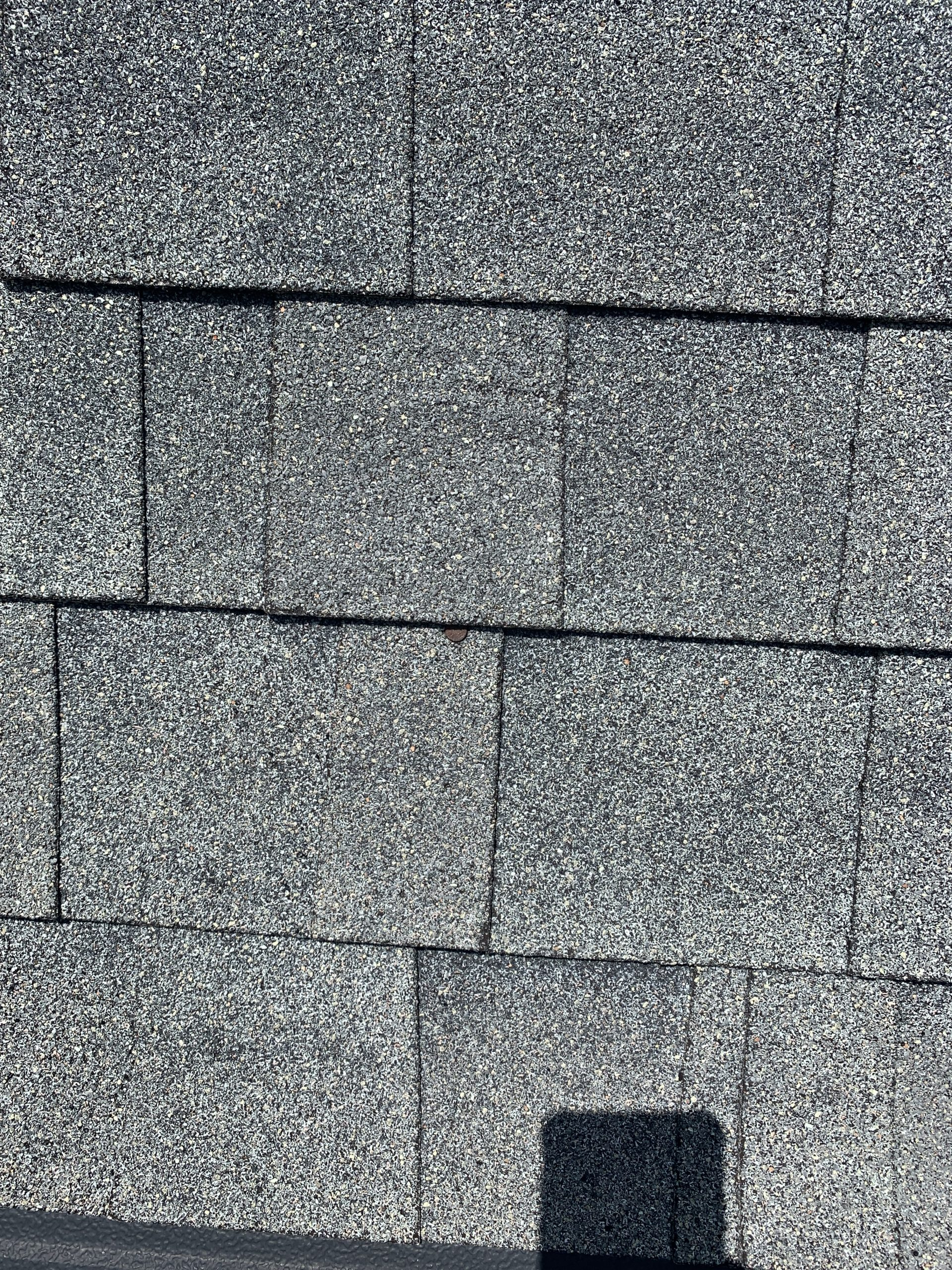 Granular loss and pitting on shingles
