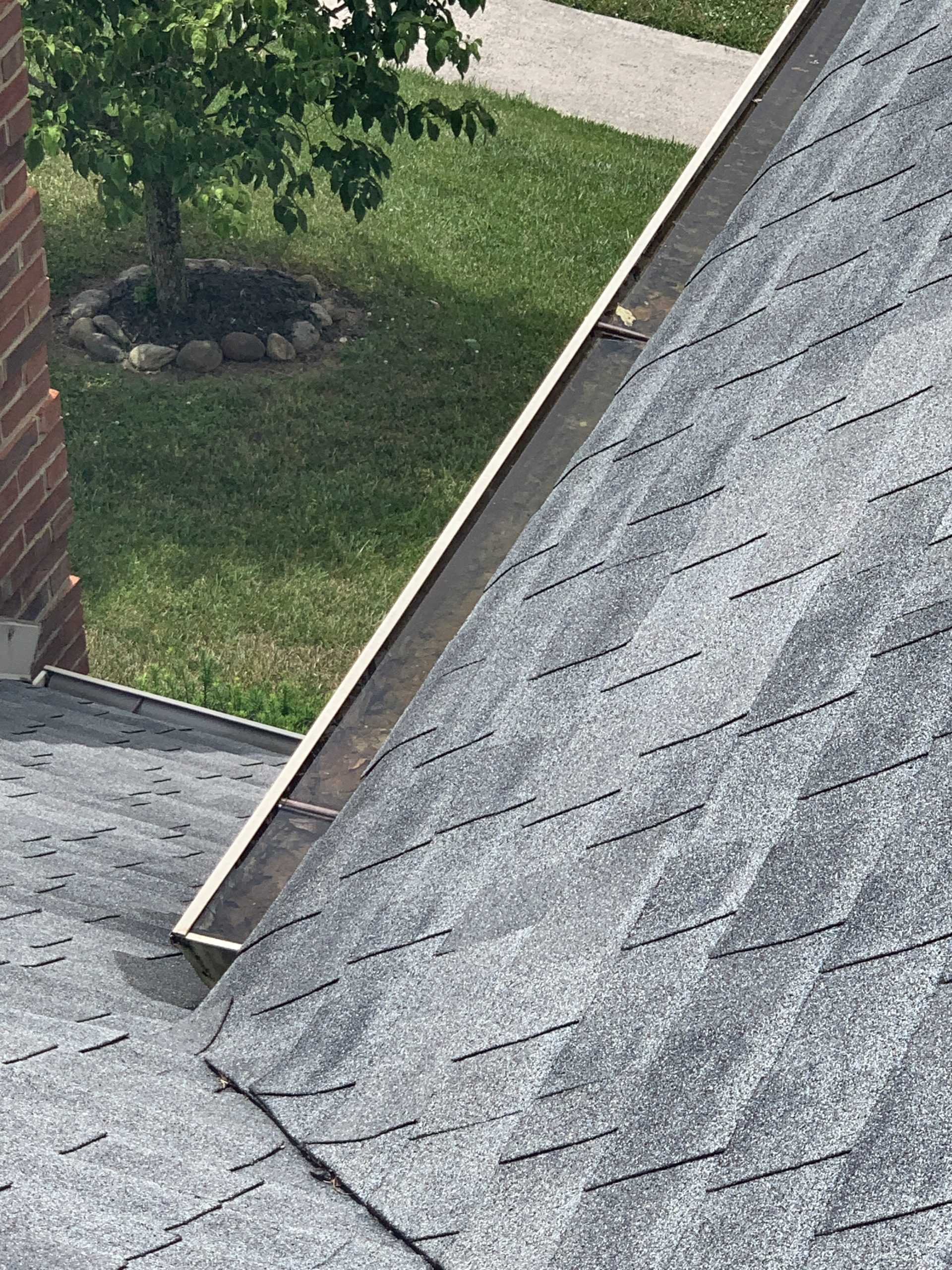 Improper pitch on gutters