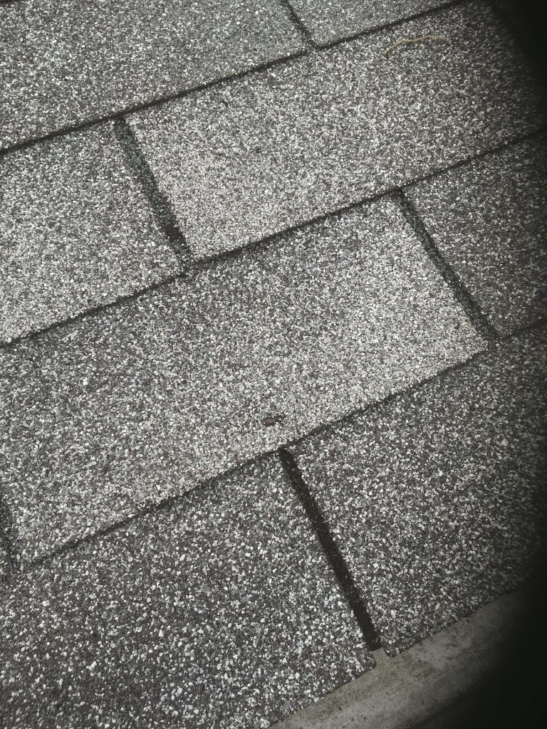 Only One Nail Popping Through Shingle