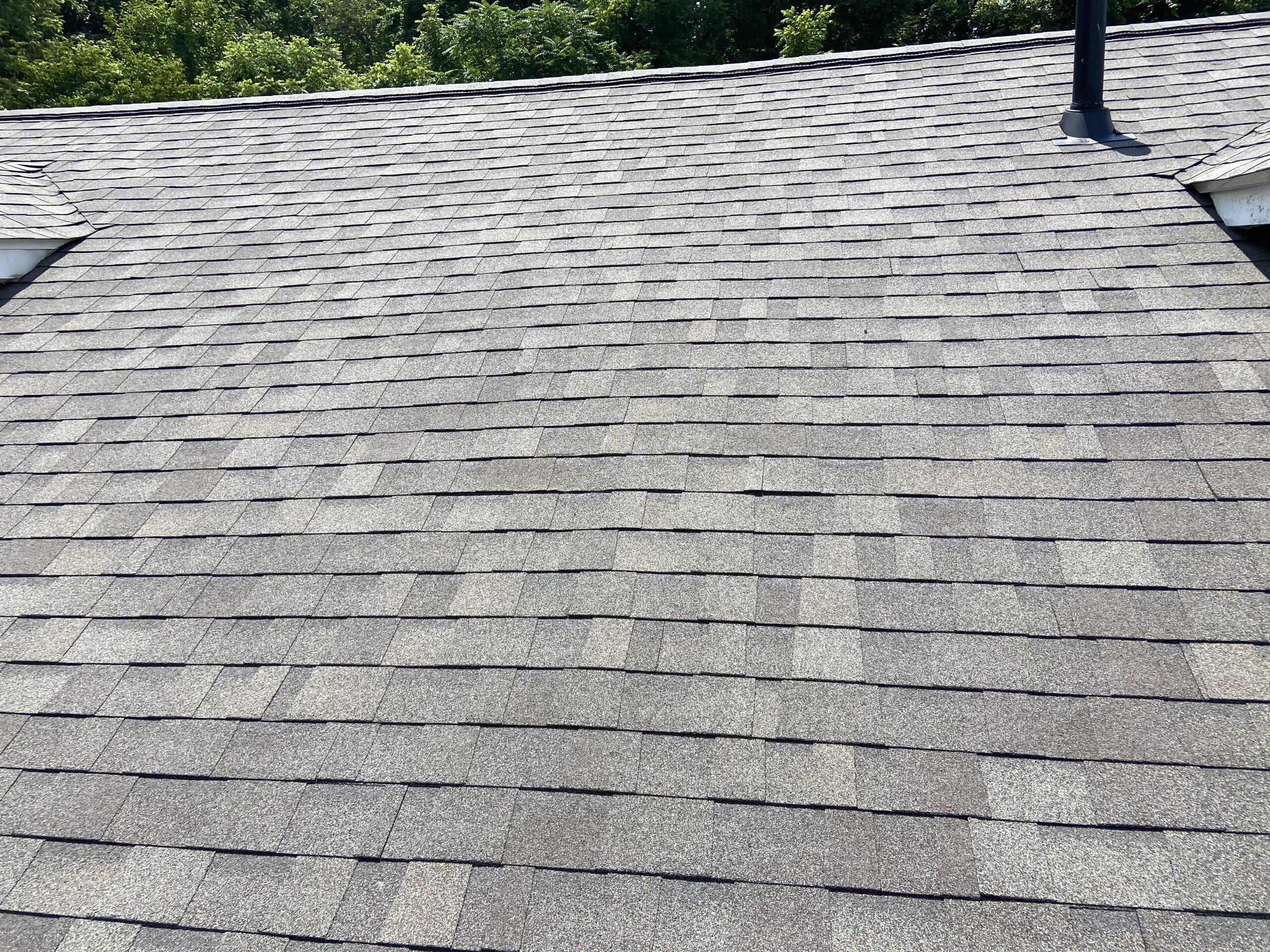 new owns corning oak driftwood shingles look great on this roof in knoxville tn