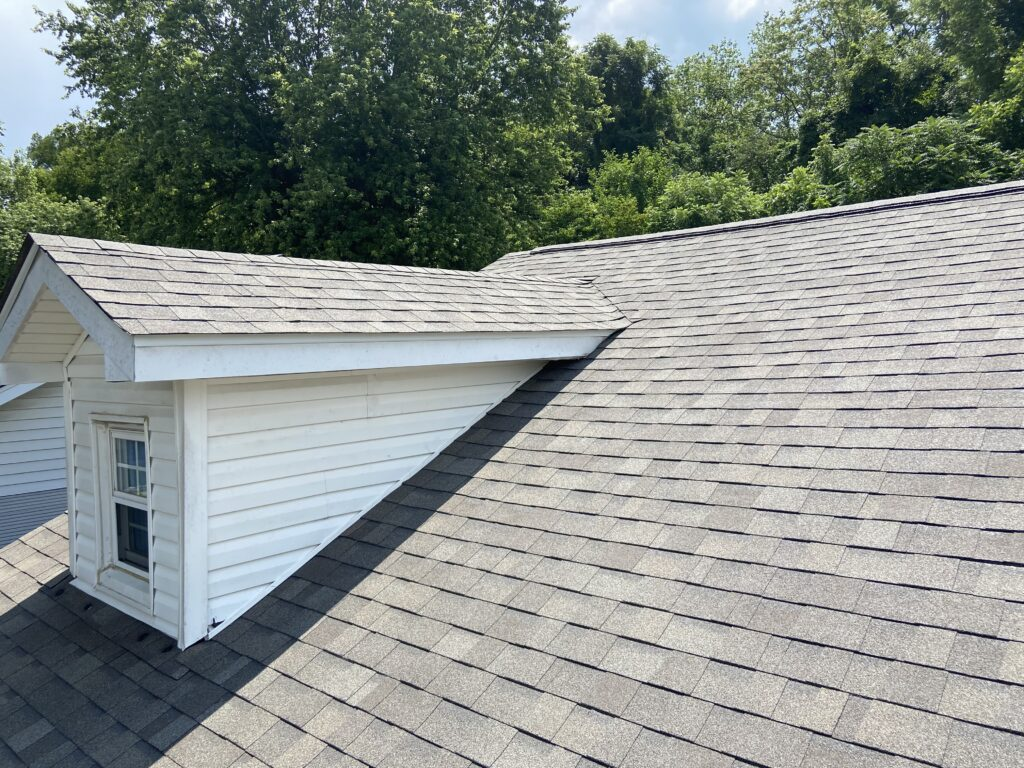 new owens corning driftwood shingles installed on a roof in knoxville tn