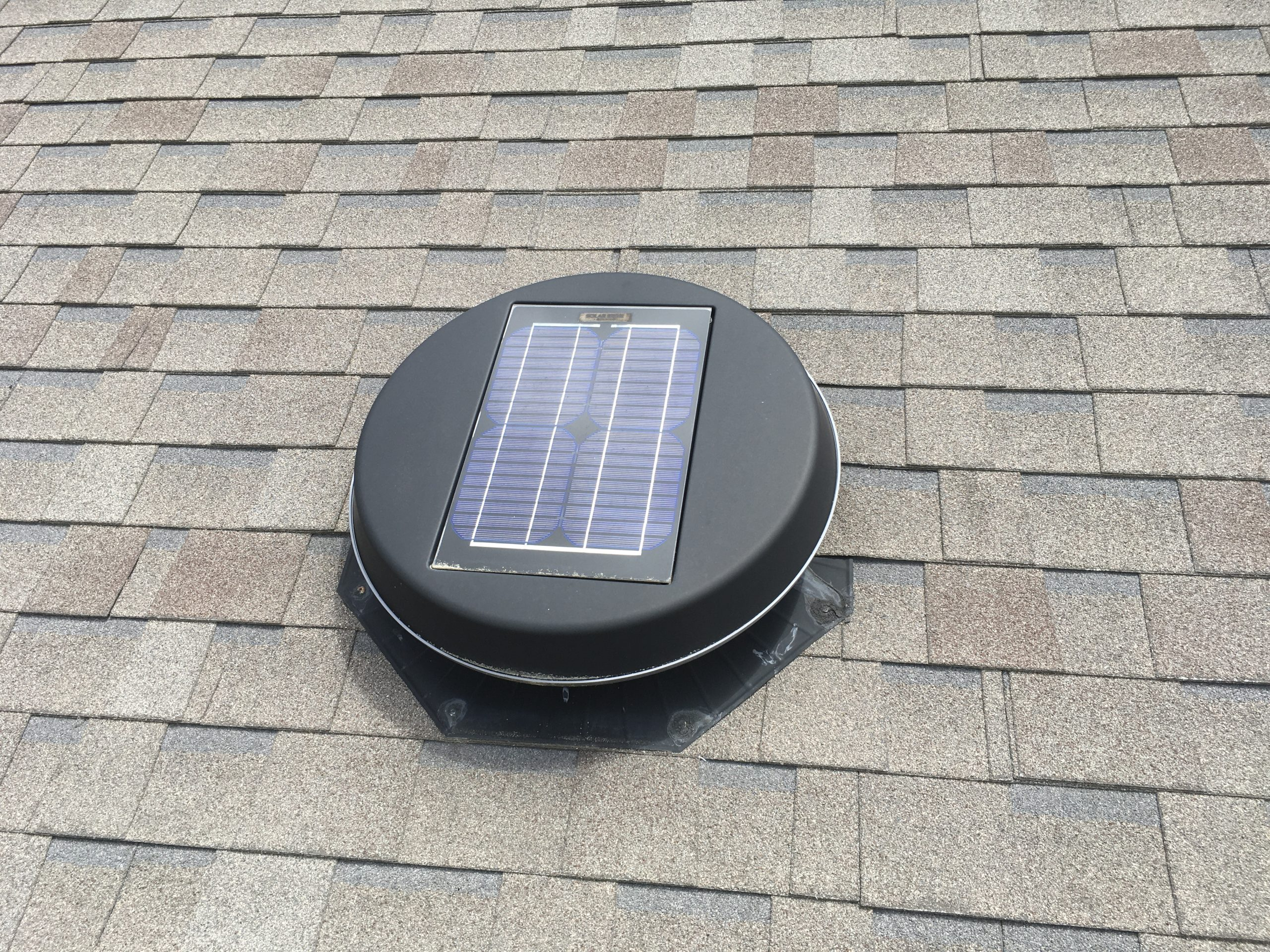 this is a picture of a solar powered attic vent in knoxville tn