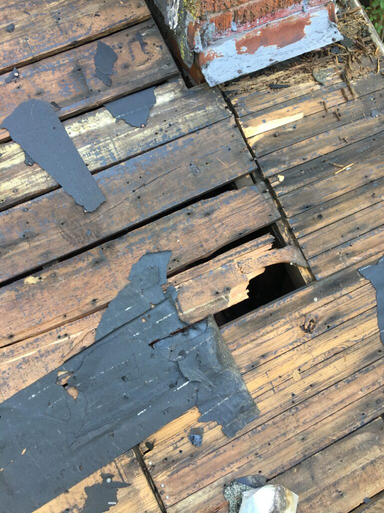 Roof Decking Boards Were Original to House