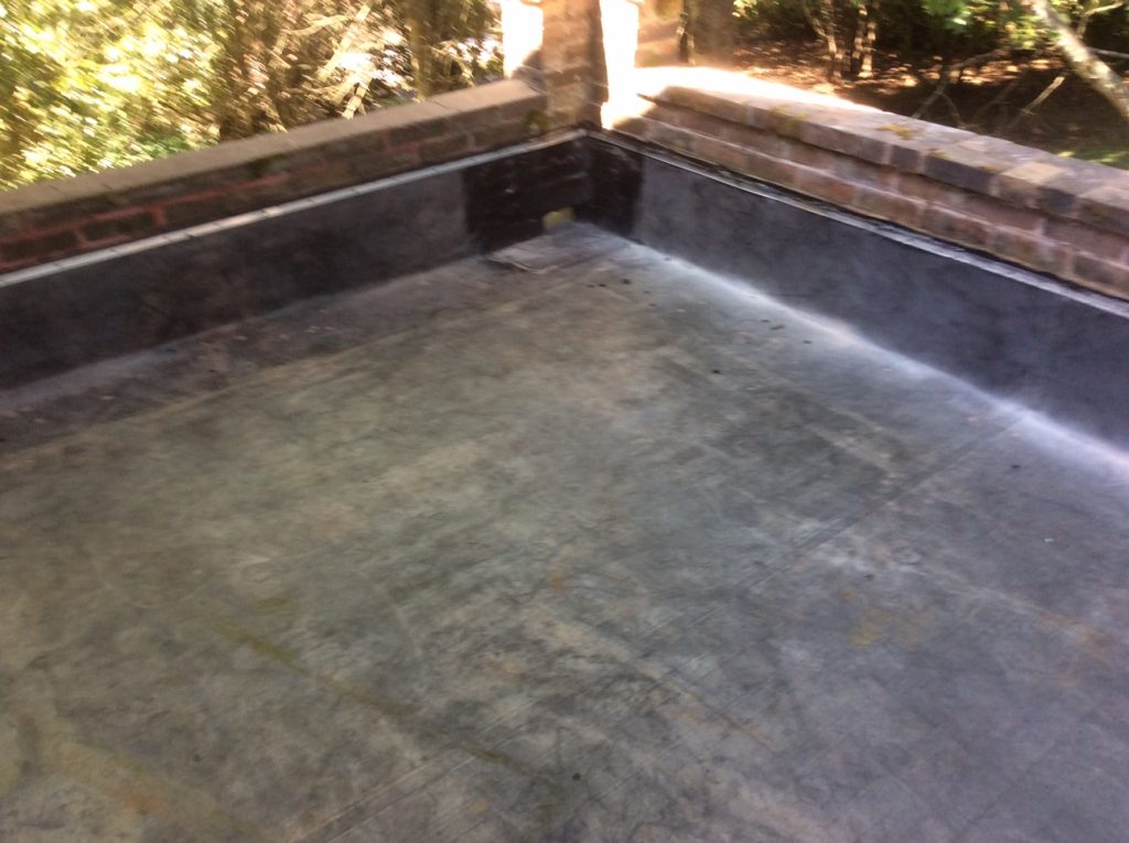 Completed Rubber Roof on Deck