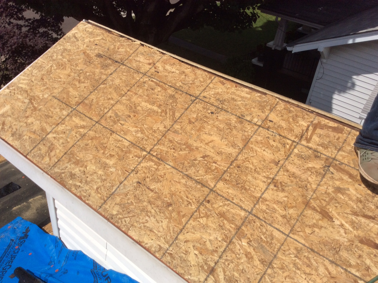 this is a picture of the new roof deck boards in knoxville tn
