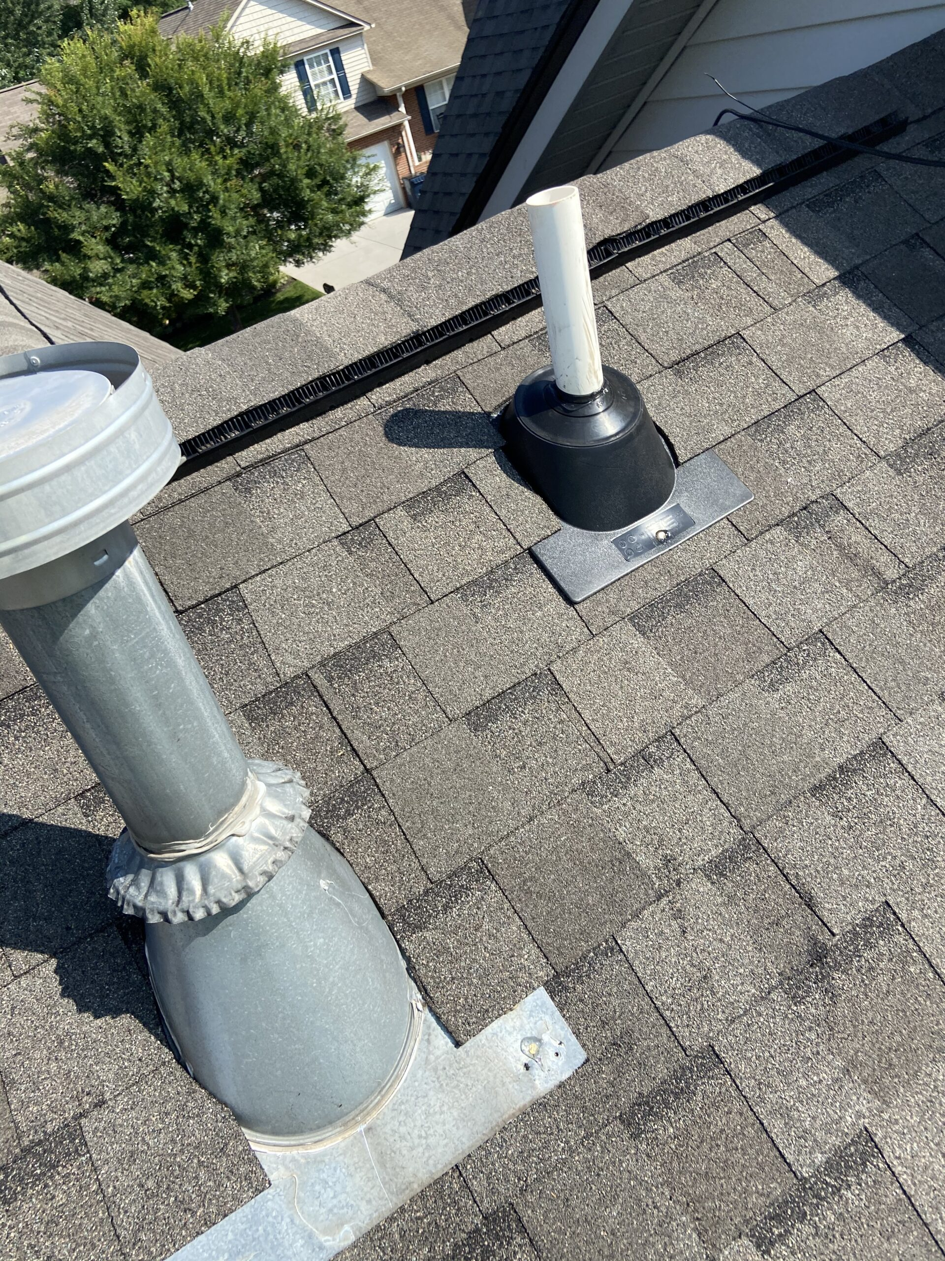 this is a picture of a new pipe boot that was installed on this roof litespeed construction replaced this roof