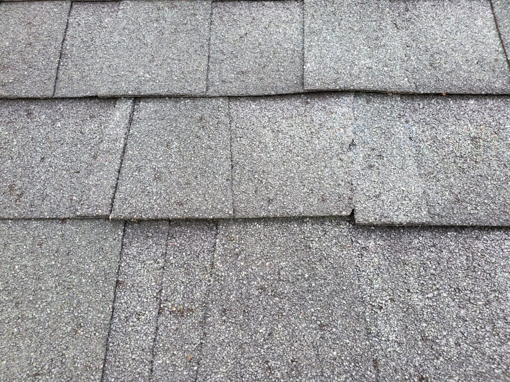 This is a picture of incorrectly installed shingles.