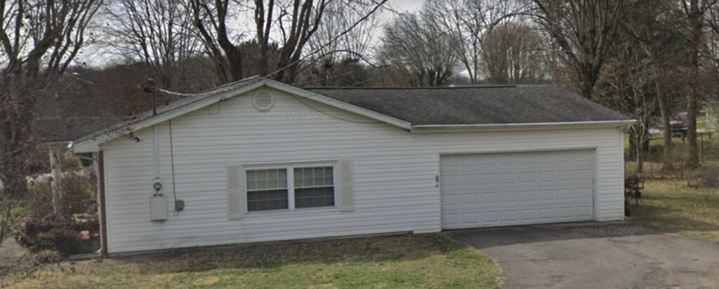Old dimensional roof with improper transition to porch addition