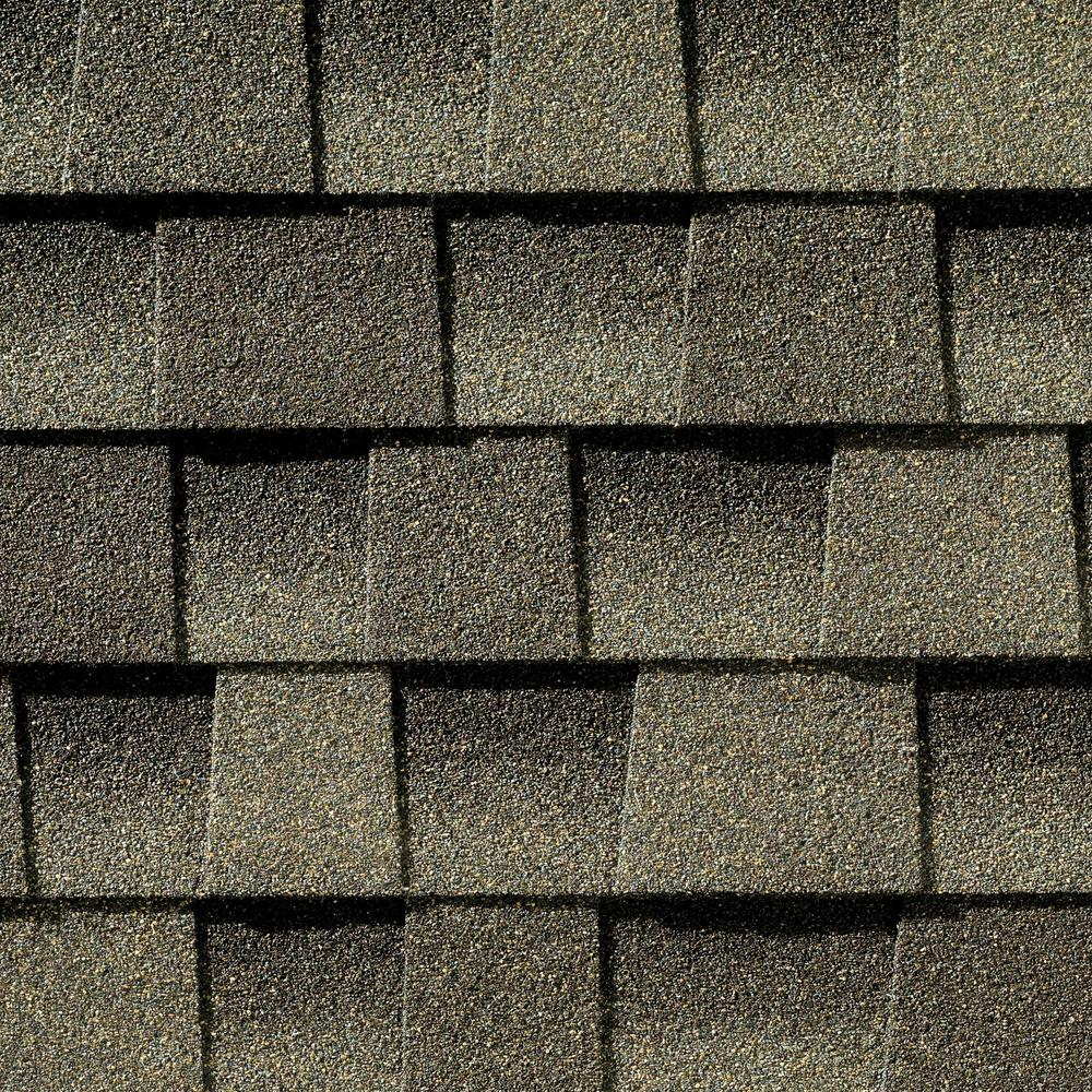 Here's a GAF weathered wood shingle color