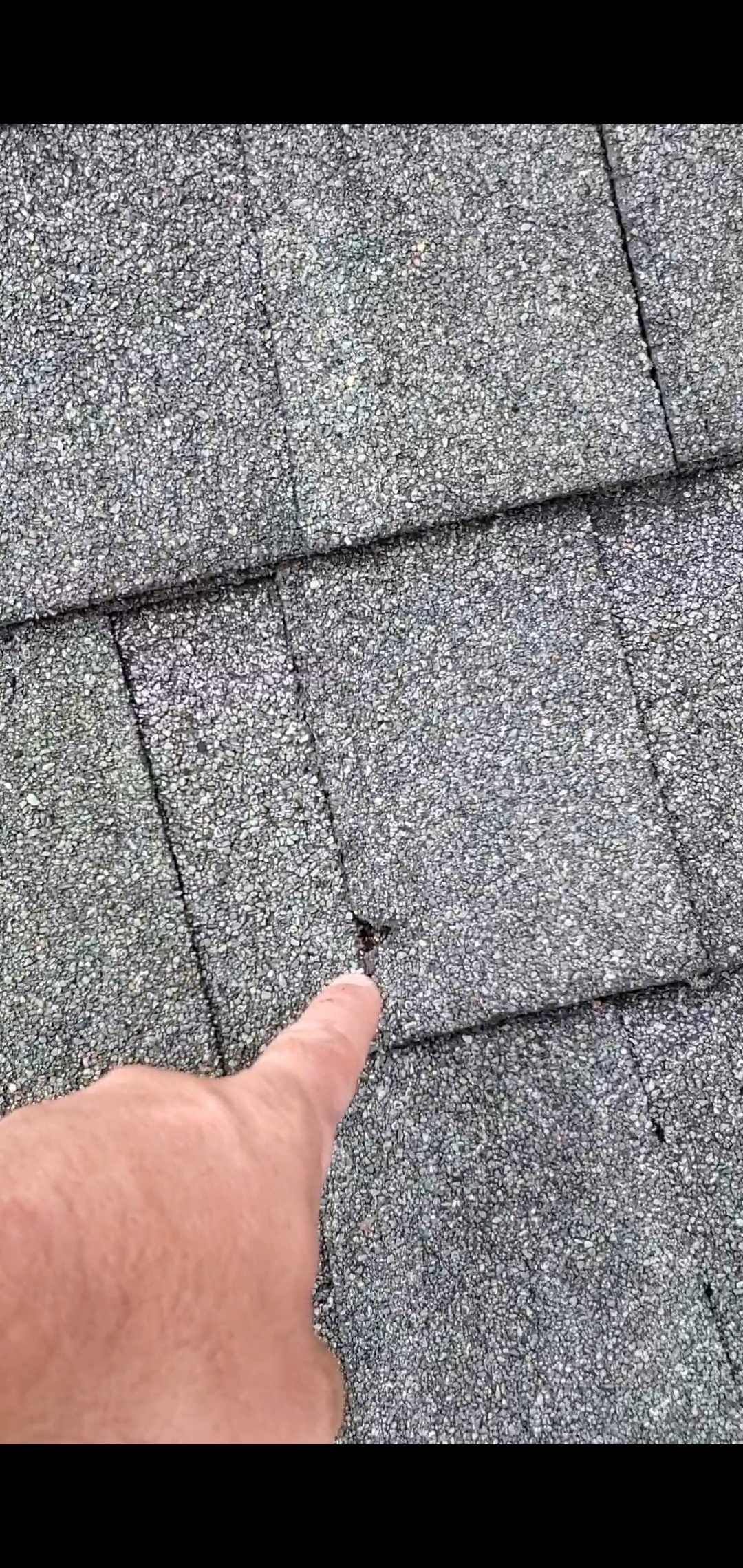 This is a picture of a broken shingle