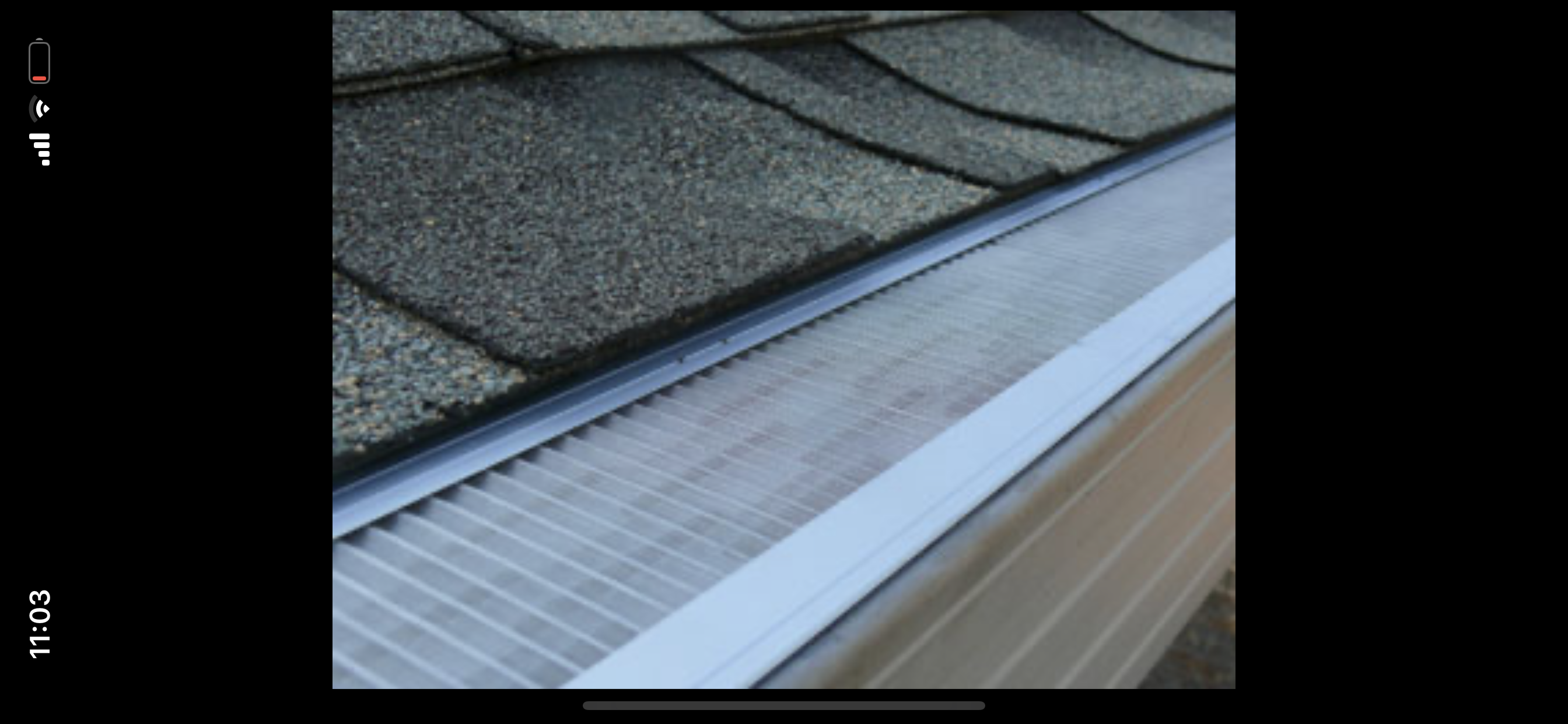 this is a picture of gutter glove stainless steel gutter guard products