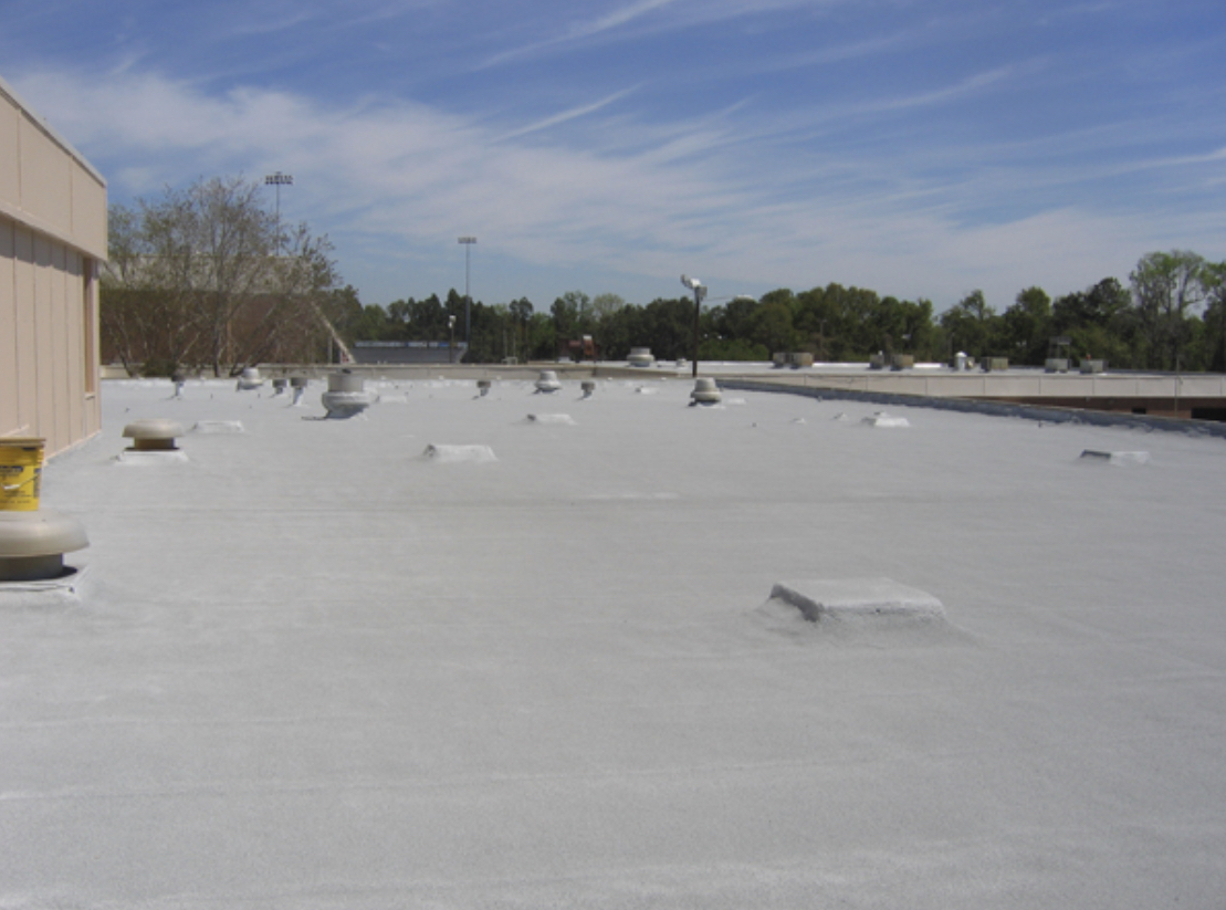 this is a picture of the roof coating that we are proposing it is an aldo silicone roof coating