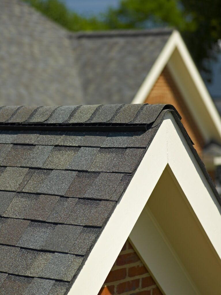 This is a view of Certainteed Landmark Weathered Wood Roof