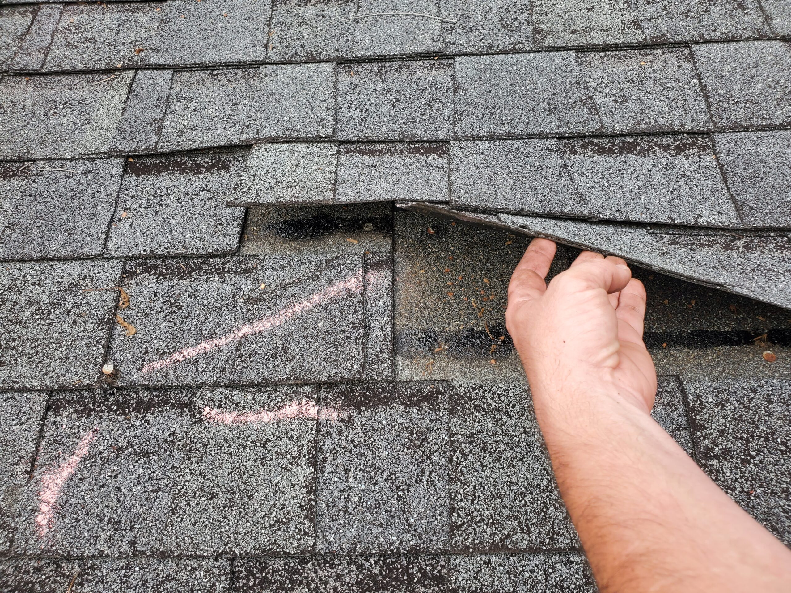 this is a picture of shingles that are easily lifted together also known as zippered shingles