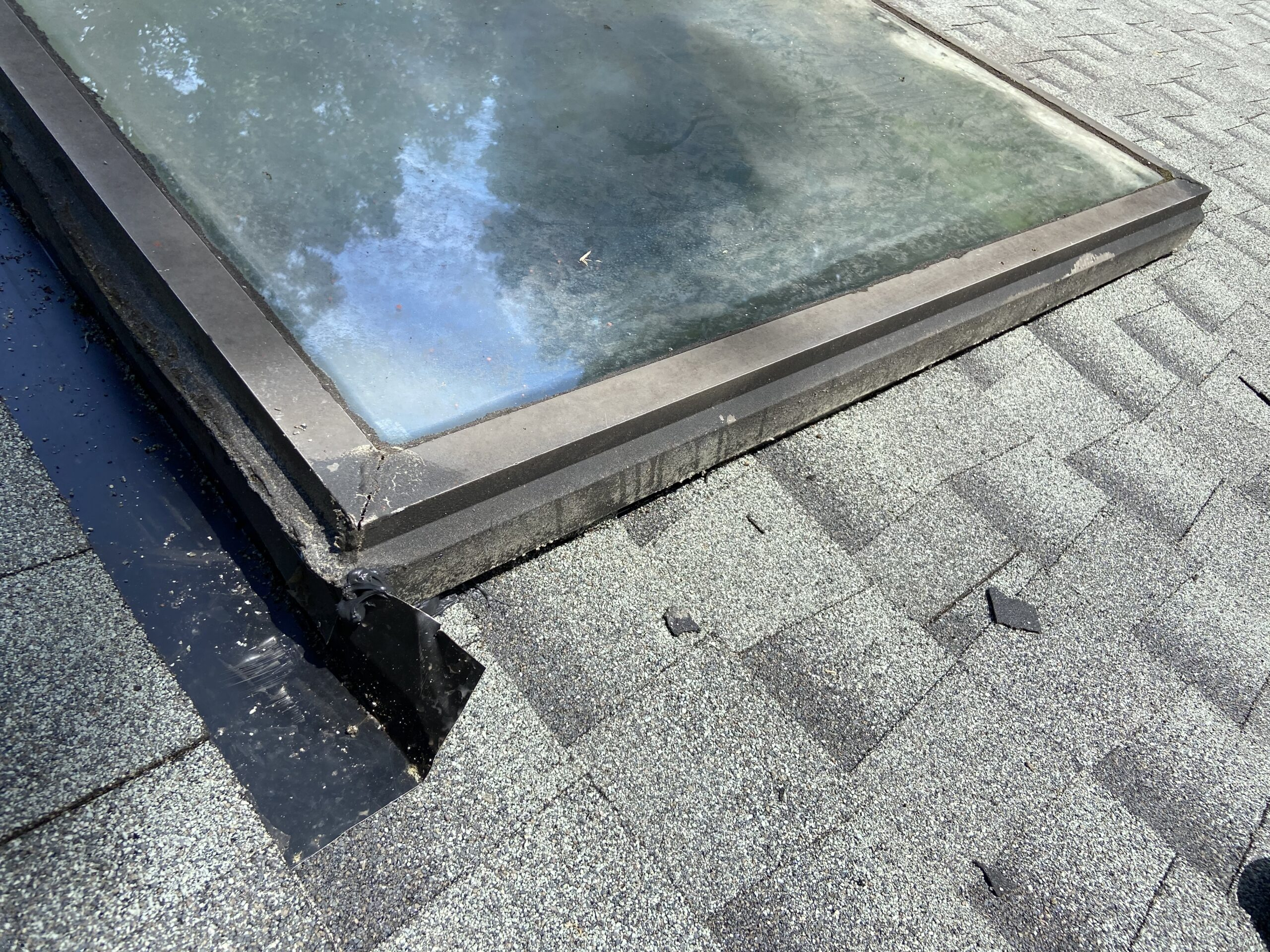 This is also an after image of the skylight post construction