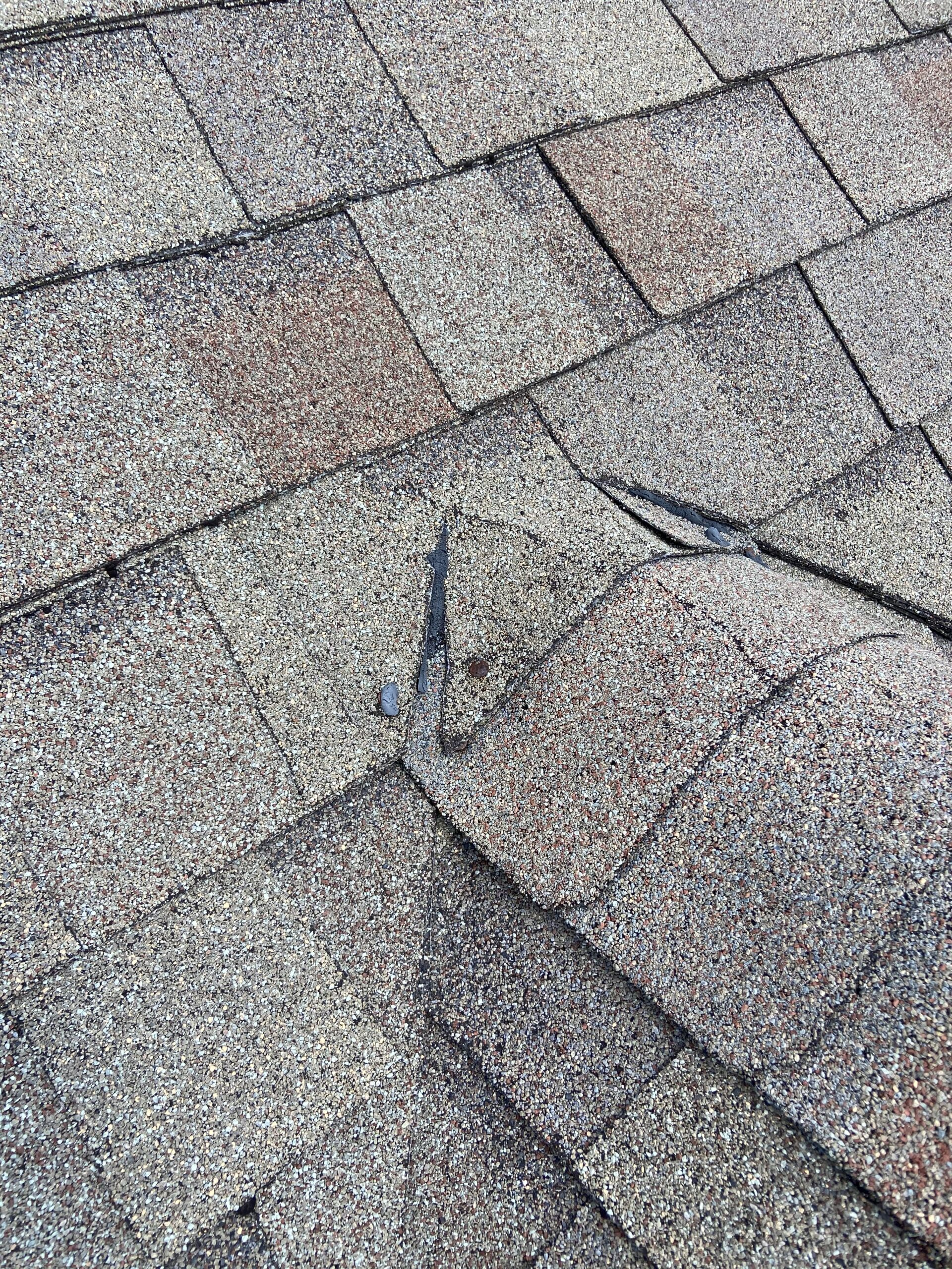 This is a part of a roof that has nails that are popping that should be causing roof leaks