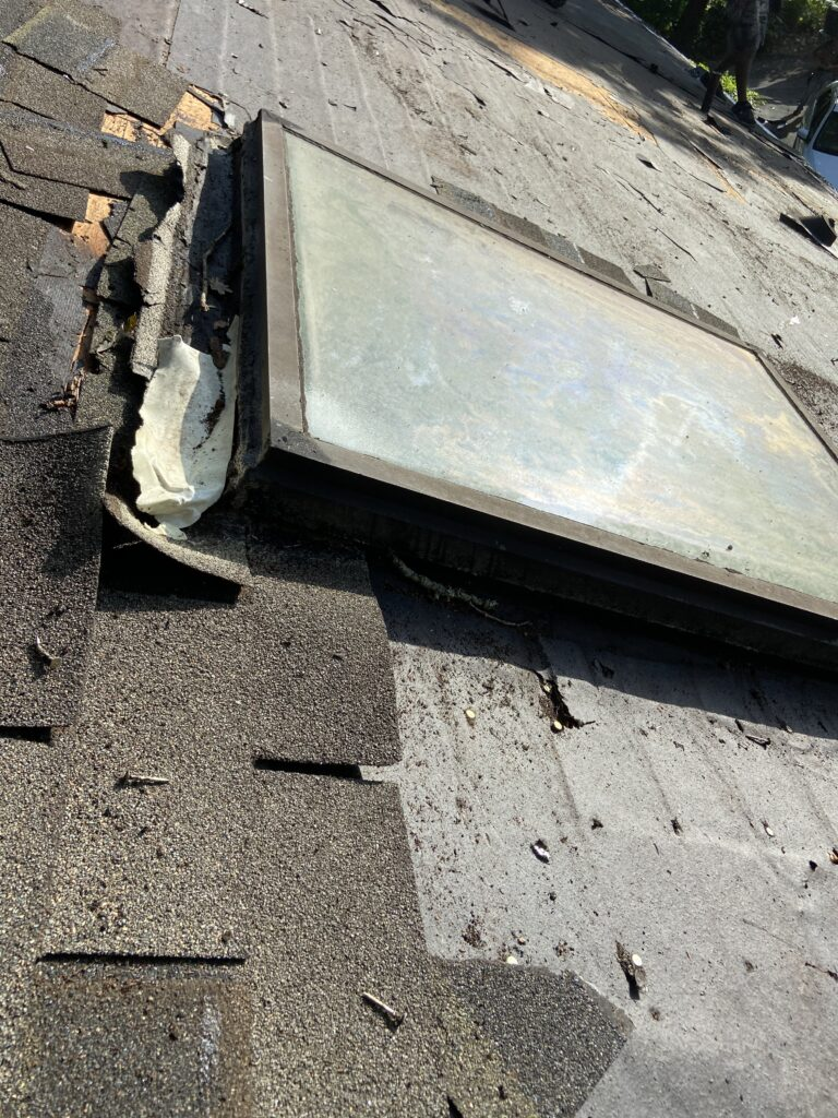 This is another picture of the same skylight durning construction