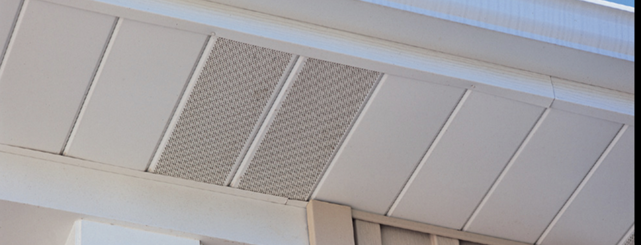 Vented and non-vented combination soffits allow your attic to breathe in combination with ridge vent, Easy to clean and maintain and will not rot.