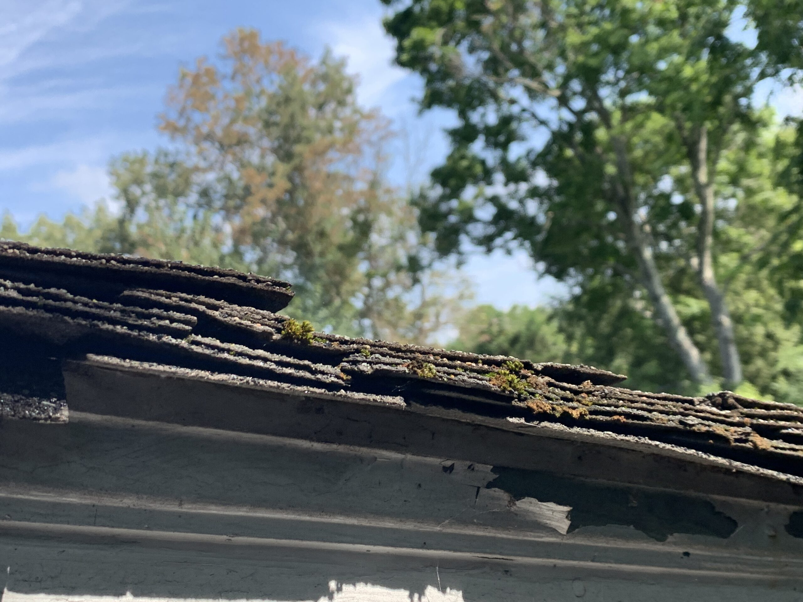 Multiple layers of shingles have been added to the roof deck not only causing potential roof leaks and roof issues, but also adding an enormous amount of weight to the roof structure